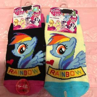 Instock authentic my little pony anti slip kids sock 2 sets only size for 1-4yrs old