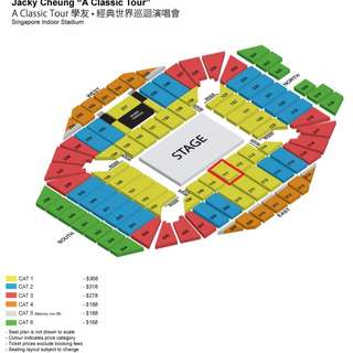 Jacky Cheong Classic Tour, 2 Tickets, Sect 111 very close to the central stage $440 each