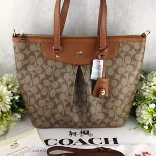 COACH PLEATED TOTE