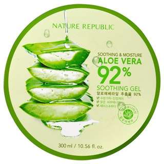 [instock] nature republic aloe vera soothing gel