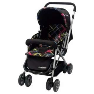 Sweet Heart Paris ST50 Stroller (Black) with Reversible Handlebar