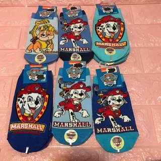 Instock authentic paw patrol Marshall socks brand size suitable for 5-8yrs old buy 3 for $24