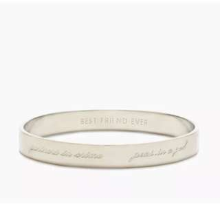 Kate Spade New York Bridesmaid Idiom Bangle *New* Silver