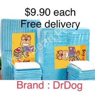 $9.90 Pee Pads, Free Delivery ( Dr Dog)