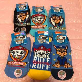 Instock authentic paw patrol anti slip kids sock brand new size for 1-4yrs old .. 1 design each only no restock