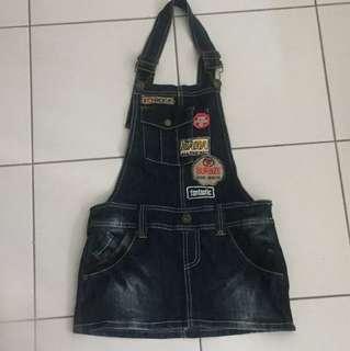 BN: Denim Halter Bare back Skirt