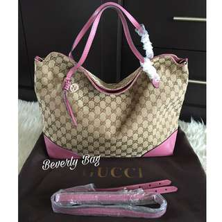 jual tas Gucci Top Folded LEATHER MIRROR - dusty pink