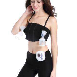 🌈(Ready Stock) 🆕Brand New Hands-free Breast Pump Bra Size M / L, Black/Nude Color