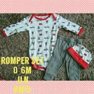 0-6m baby romper set