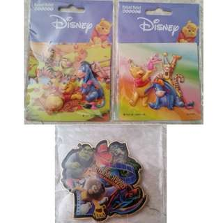 BN Disney 3D Winnie The Pooh & Universal Studios Singapore Refrigerator Magnets