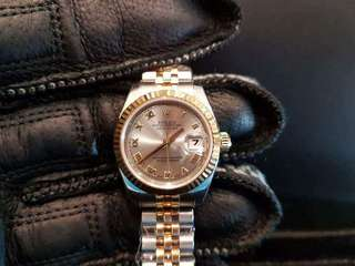 PREOWNED ROLEX Datejust, 179173 Yellow Rolesor, 26mm, Lady-size, D Series @ Year 2006 Ladies Watch
