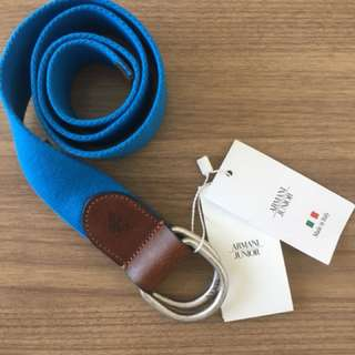 ORIGINAL Armani Junior Blue Canvas Belt