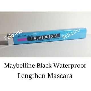 Used Maybelline Lengthening Waterproof Black Mascara Makeup Long Eyes Lash Eyelashes Cosmetics Lashionista