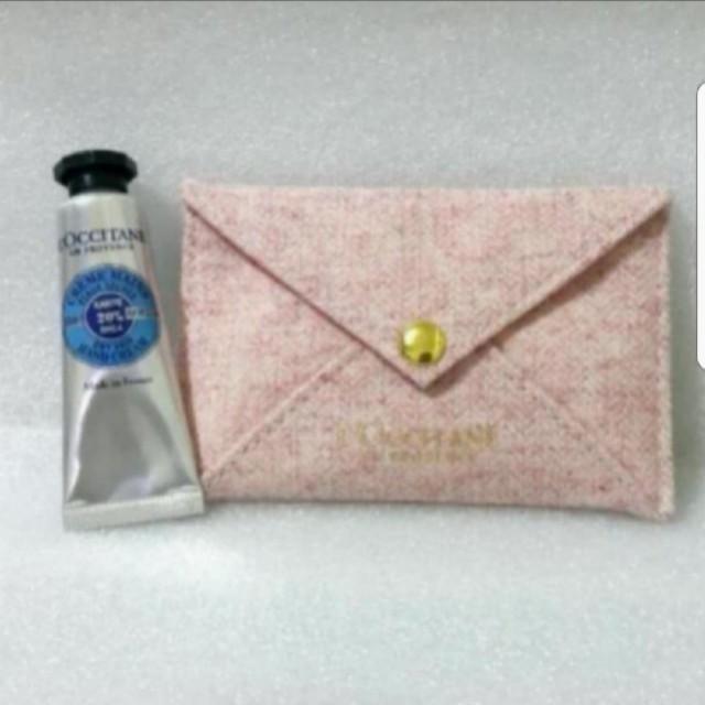 歐舒丹乳油木護手霜10ml + 粉色收納包