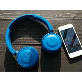 (Local Warranty)JBL T450BT Wireless on-ear headphones Blue