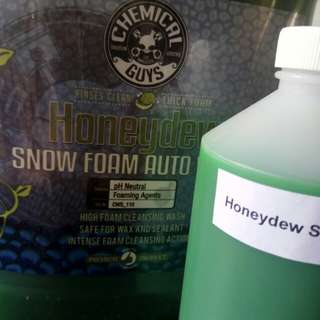 500ml CONCENTRATE  Chemical Guys  Honeydew Snow Foam  Car Wash And Cleanser in unlabelled refill bottle