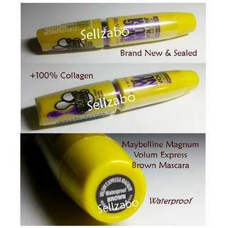 Maybelline Magnum Volume Express Brown Mascara Waterproof Colour Sellzabo Eyelashes Eyelash Eyes Lash Lashes Eyeslash Eyeslashes Makeup