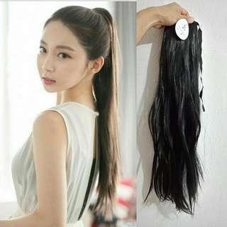 $14.90 Free Mail Black Wavy Ponytail Hair Band