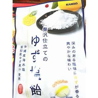 🚚 日本 kanro 柚子鹽糖