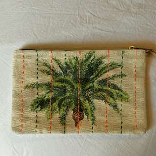 Polette Canvas Palm-print Pouch