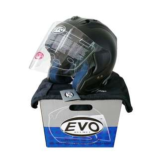 Ready Stock - Evo Glossy Black Helmet