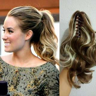 $15.90 Free Mail Curly Wavy Ponytail Hair Extension Clip On