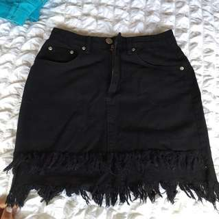 Black Denim Mini Skirt 💥