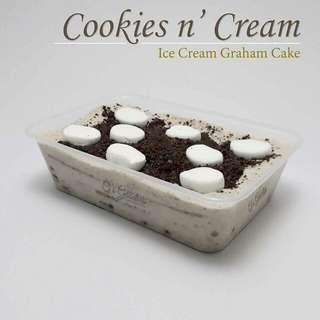 Ice cream graham cake