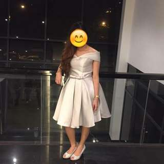 Cocktail Dress Silver for RENT