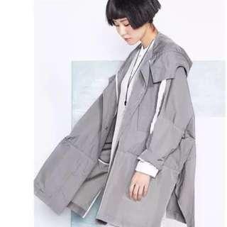Grey Oversize Outerwear