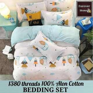 Forever Home床上用品直銷, $120起購買全新升級蘆薈棉1380針床單寢具套裝, 一套包括(床笠, 被套, 枕套) - 款式N12