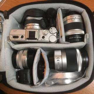 Pentax Q7 with 4 system lens