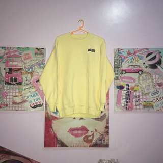 Pastel yellow VANS sweater / pullover