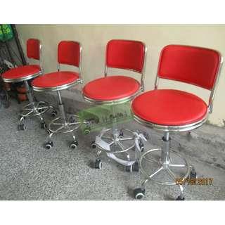 RED BAR STOOL  DRAFTING CHAIRS--KHOMI