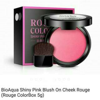 BioAqua shinny pink blush cheek Roug