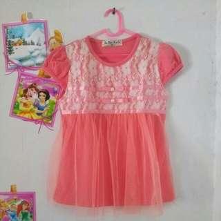 Dress tutu peach