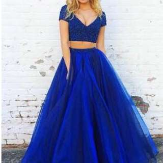 Crop top gown