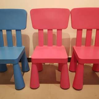 Ikea Kids Chairs (2 nos. - Pink & Blue)