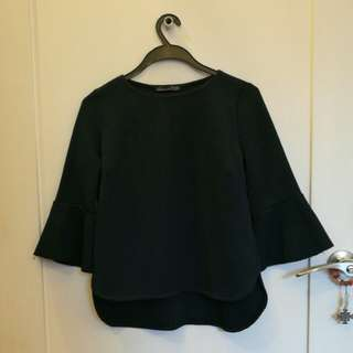 Zara Navy Top