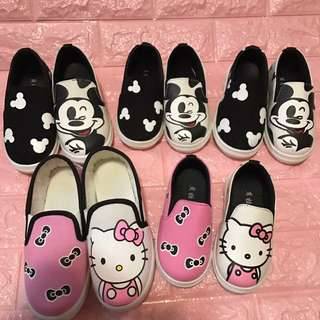 Hello kitty and Mickey Mouse Shoe Brand New (hello kitty size 25-16cm and