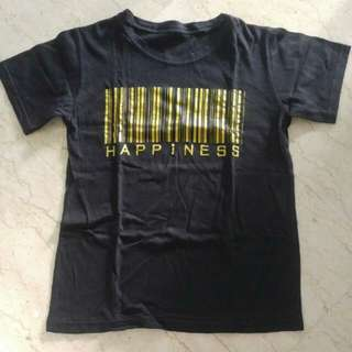 Barcode Happiness Black T-shirt