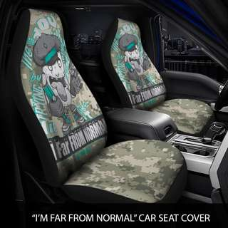 "Car Seat Covers ""I'm Far from Normal"""