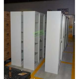 CUSTOMIZE 5 LAYER GLASS SLIDING DOOR CABINET (WITH DIVIDER)