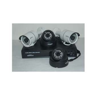 For Sale CCtv Package HD Resolution with 4pcs Camera Indoor/ Outdoor