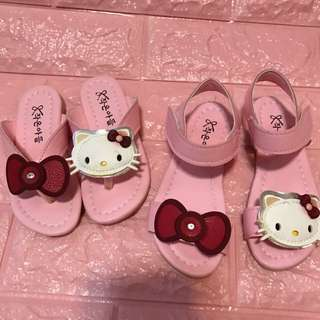 Instock hello kids shoe brand new slippers size 25 and sandals size 27