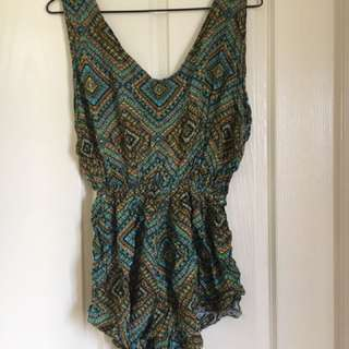 Hippie printed playsuit