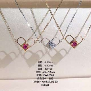 18k 2帶款Necklace
