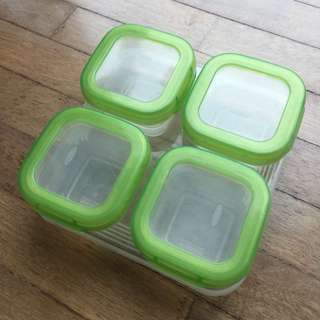 oxo food containers with free gift.