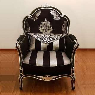 Lucano Italian Chair with cushion