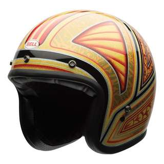 Bell Custom 500 Rare Limited Edition Tagger Flashback Model SIZE SMALL AND X- SMALLONLY Cruiser Motorcycle Cafe Racer Motorbike Helmet